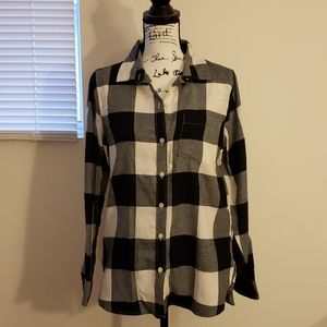 Old Navy Classic Shirt Plaid Flannel NWT